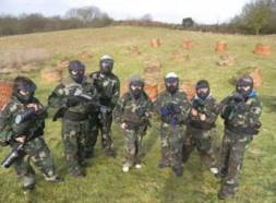 Paint ball team