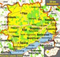 Map of Veszprem-7